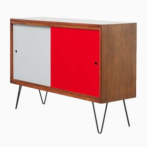 Mid-Century Teak Sideboard with Reversible Doors, 1960s