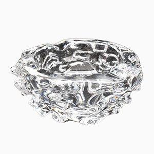 Art Deco Aschenbecher aus Kristallglas von Charles Schneider