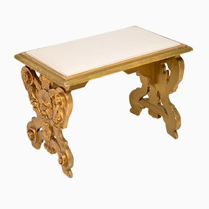 Antique Italian Giltwood Stool, 1930s