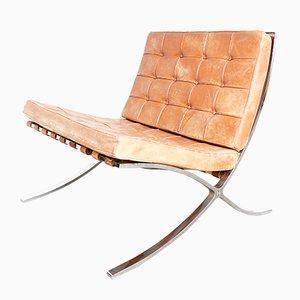 Sedia MR90 Barcelona di Ludwig Mies van der Rohe per Knoll Inc. / Knoll International, anni '50