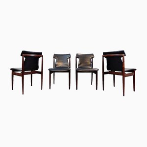 Rosewood Dining Chairs by Inger Klingenberg for Fristho, 1960s, Set of 4