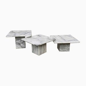 Marble Nesting Tables, 1970s, Set of 3