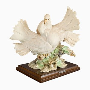 Vintage Italian Doves Sculpture by Giuseppe Armani for Capodimonte, 1950s
