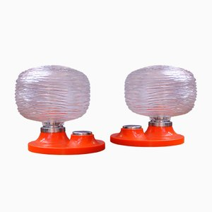 Vintage Space Age Table Lamps, Set of 2