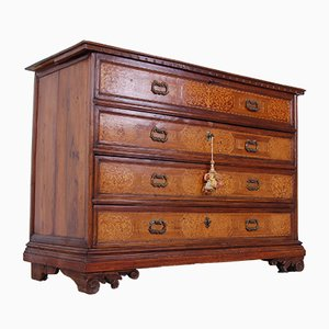 Antique Walnut Dresser with Secret Drawers