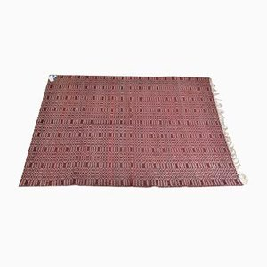 Vintage Minimalistic Turkish Woolen Carpet with Geometric Pattern, 1950s