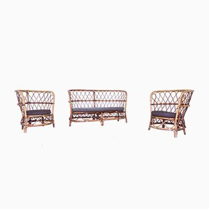 Juego de silla y butacas de Lio Carminati para Casa e Giardino, años 50