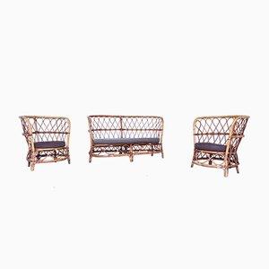 Sofa und Sessel Set von Lio Carminati für Casa e Giardino, 1950er