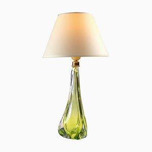 Belgian Glass Table Lamp from Val St Lambert, 1960s