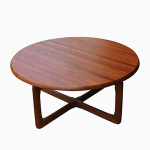 Round Teak Coffee Table by Tarm Stole for OG Mobelfabrik, 1960s