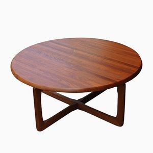 Table Basse Ronde en Teck par Tarm Stole pour OG Mobelfabrik, 1960s