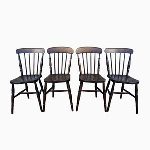 Antique English Windsor Chairs, Set of 4
