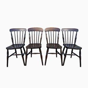 Sedie Windsor antiche, Regno Unito, set di 4