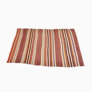Vintage Turkish Striped Woolen Carpet, 1960s