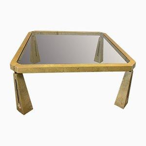Mesa de centro vintage de vidrio y latón de Peter Ghyczy