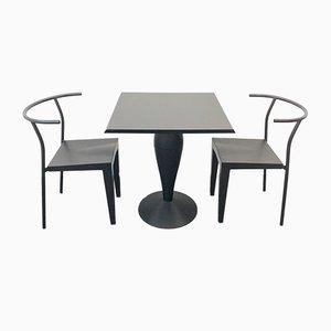 Italienische Esszimmerstühle mit Tisch von Philippe Starck für Kartell, 1980er, 3er Set