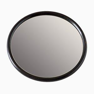Specchio rotondo in frassino ebanizzato di Pieterman, Paesi Bassi, anni '60