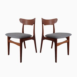 Danish Teak Dining Chairs by Schiønning & Elgaard, 1960s, Set of 2