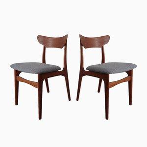 Danish Teak Dining Chairs by Schiønning & Elgaard, 1960s, Set of 2