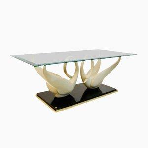 Tavolino da caffè Swan vintage di Maison Jansen