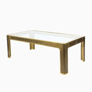 Brutalist Regency Solid Bronze Coffee Table by Peter Van Heeck, 1970s