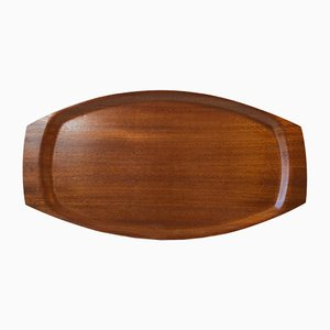 Large Danish Teak Veneer Serving Tray from Silva, 1960s