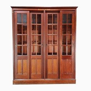 Antique Pitch Pine School University Lab Cabinet by DMGR, 1900s