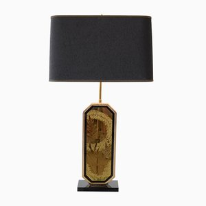 Hollywood Regency 23 Carat Gold Table Lamp by George Mathias for M2000, 1970s