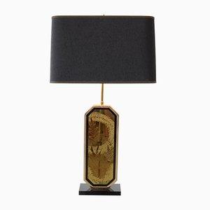 Hollywood Regency 23 Karat Gold Tischlampe von George Mathias für M2000, 1970er