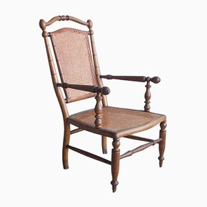 Antique Faux Bamboo Lounge Chair