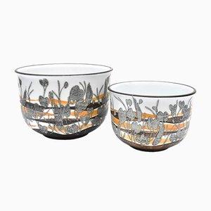 Pots Mid-Century Scandinaves par Iwan Weiss pour Royal Copenhagen, Set de 2