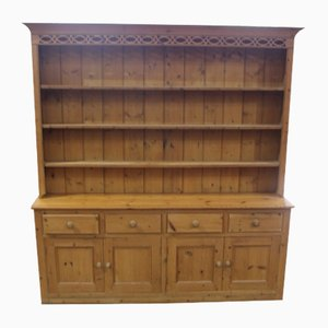 Large Antique Pinewood Dresser with Rack, 1920s