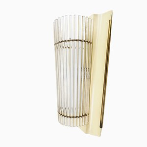 Brass and Acrylic Sconce, 1950s