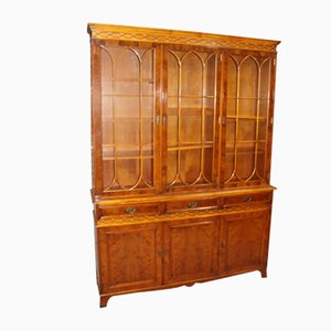 Large 4-Door Yew Bookcase with Glazed Top, 1960s
