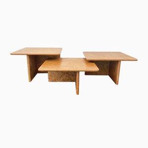 Tables Basses en Marbre Rouge, Italie, 1960s, Set de 3
