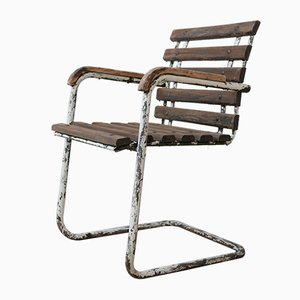 Industrial French Garden Chairs, 1940s, Set of 6