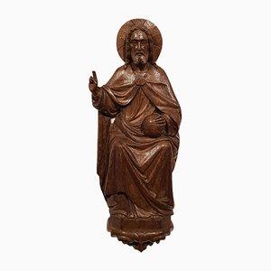 Pannello con altare Tryptich Emmaus Experience in legno intagliato