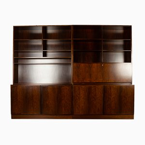 Mid-Century Rosewood Modular Bookcase from Omann Jun, 1960s
