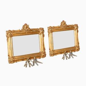 Specchi dorati, XIX secolo, set di 2