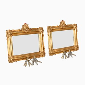 Vergoldete Spiegel, 19. Jh., 2er Set