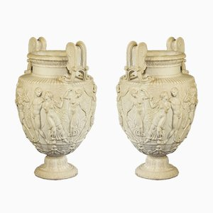 Antique Paar Townley Style Vases, Set of 2