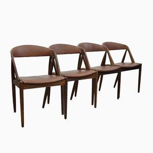 Chaises de Salon Modèle 31 par Kai Kristiansen, 1960s, Set de 4