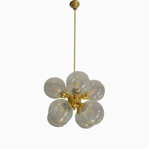 Mid-Century German Brass and Bubble Glass Sputnik Chandelier, 1960s