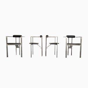 Vintage Stühle und Tisch Set von Friedrich Förster, 1980er, 5er Set