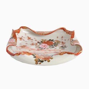 Antique Japanese Meiji Porcelain Bowl from Kutani, 1900s