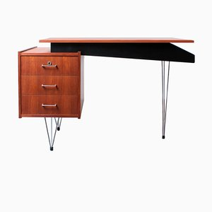 Teak Hairpin Desk by Cees Braakman for Pastoe, 1950s
