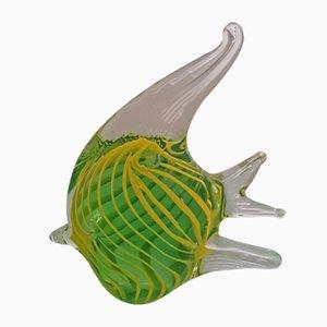Murano Glas Fisch Skulpturen, 1950er, 2er Set