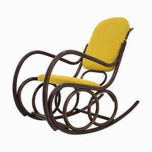 Rocking Chair Mid-Century en Bois Courbé de TON, 1960s