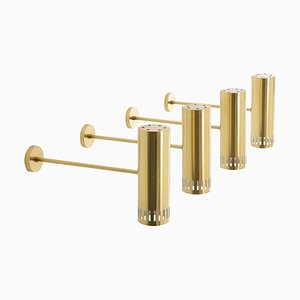 Large Mid-Century Scandinavian Brass Sconce from Borås, 1960s