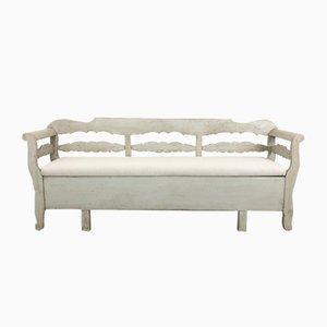 19h Century Swedish Painted Wooden Sofa
